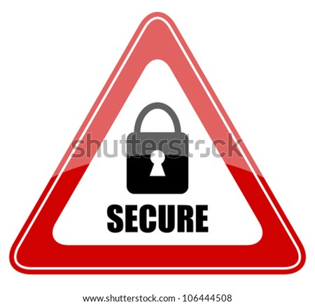 Vector secure sign, eps10 illustration