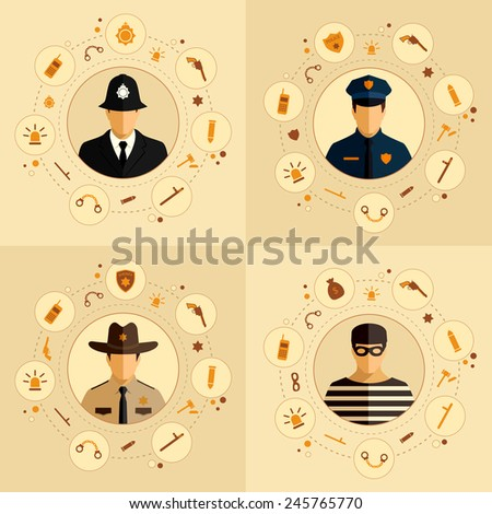 vector security icon  police