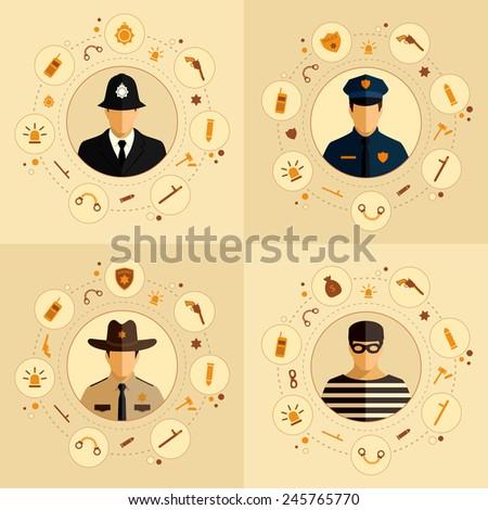 vector security icon  police