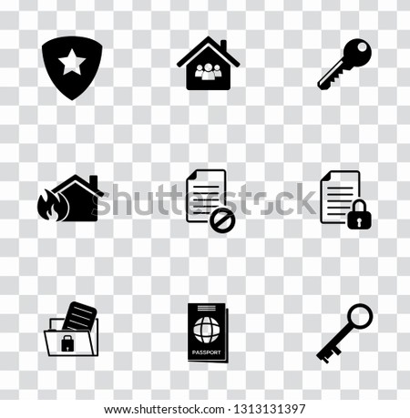 vector security, protection, safety and icons set - computer security system