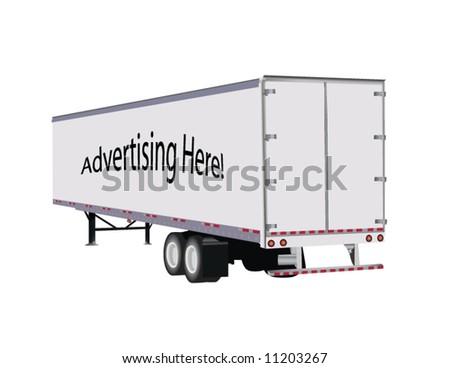 Vector semi-trailer designed for custom advertising