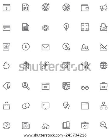 Vector SEO icon set