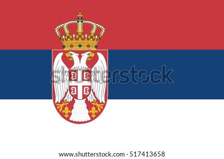 Vector Serbia flag, Serbia flag illustration, Serbia flag picture, Serbia flag image