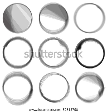 Vector - Series of hand drawn ink circles.