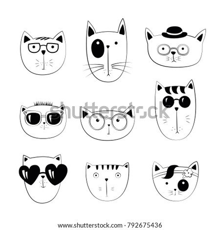 vector series with cutecats