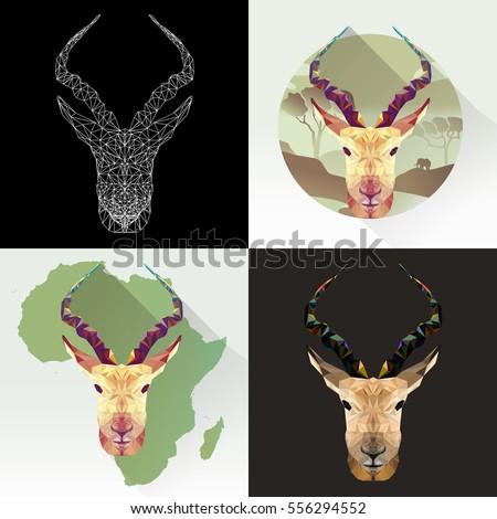 vector set animal for tattoo