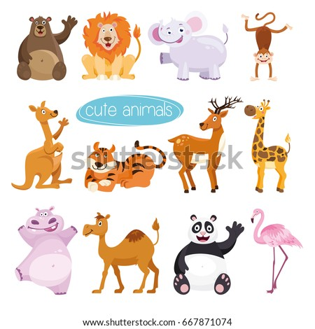 vector set animals collection