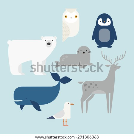 vector set arctic and antarctic