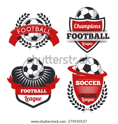 vector set badges logos red for