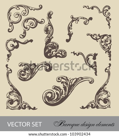vector set: Baroque design elements and page decoration - lots of useful elements to embellish your layout