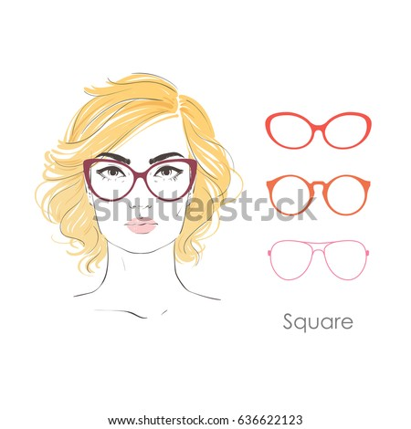 vector set beautiful women