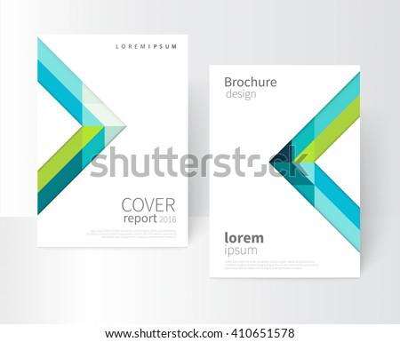 vector set brochure cover