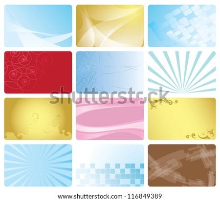 vector set - business cards with abstract design
