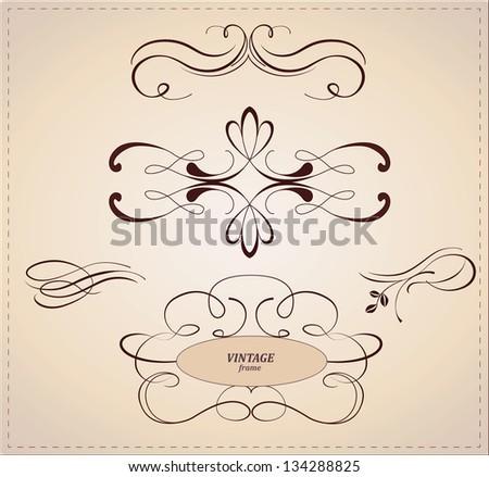 Vector set: calligraphic design elements.