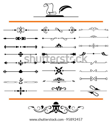vector set: calligraphic design elements and page decoration - lots elements to embellish your layout