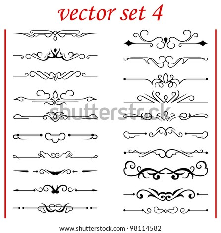 vector set 4: calligraphic design elements and page decoration - lots elements to embellish your layout