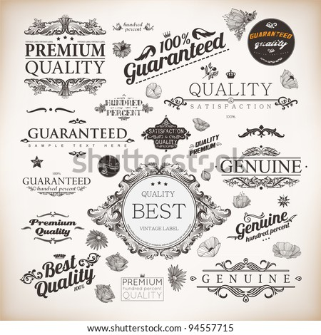 vector set  calligraphic design ...