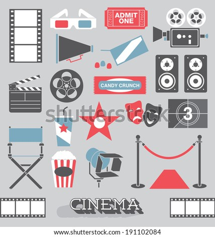 vector set  cinema and movie