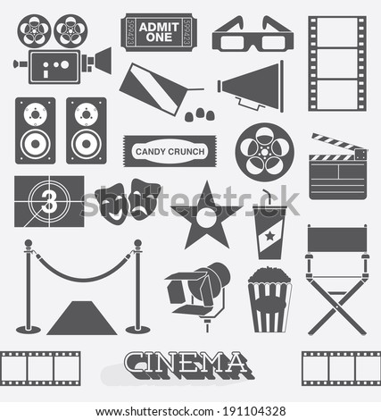 vector set  cinema and movie...
