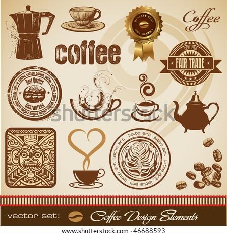 vector set: coffee design elements
