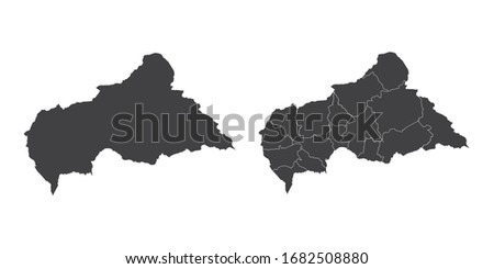 Vector set couple black of map Central African. Сток-фото ©
