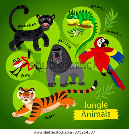 vector set   cute wild animals