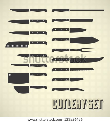 vector set  cutlery set
