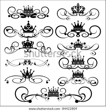 stock vector vector set decorative dividers victorian scrolls and crown decorative elements vintage 84422809 4 wire 220 volt oven to 3 4 find image about wiring diagram,Oven Heating Element Wiring Diagram Free Download
