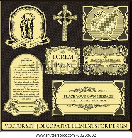 Vector set - Decorative elements for design - stock vector