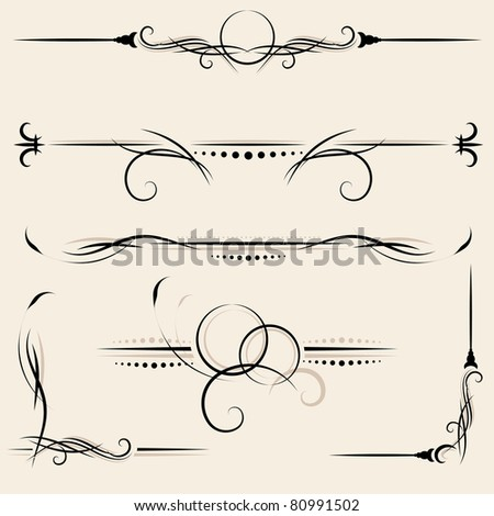 vector set: design elements and page decoration
