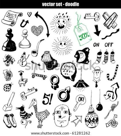 vector set   doodles