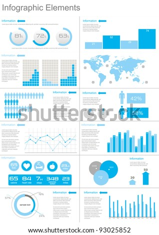Vector Set elements of infographics  World Map and Information Graphics