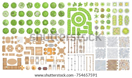 vector set for landscape design