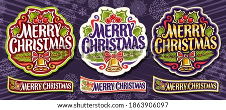 vector set for merry christmas