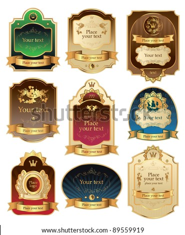 vector set framed labels