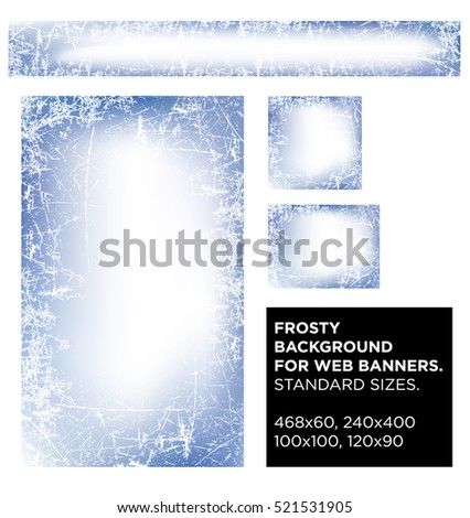 vector set frosty background