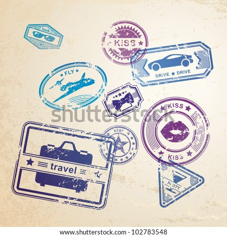 Vector set grunge stamps