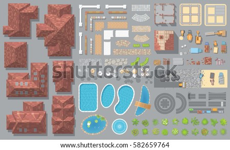 vector set houses