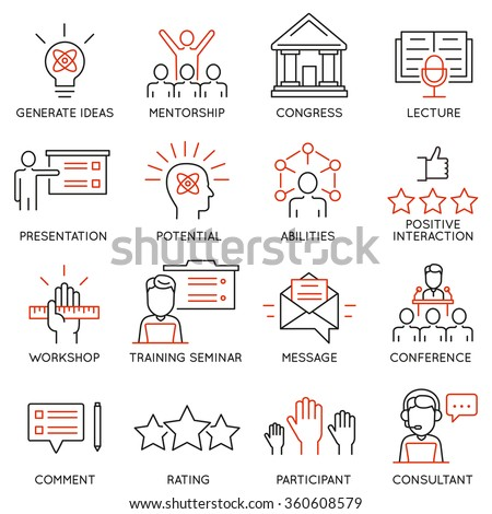 vector set icons related to