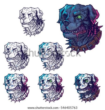 vector set illustrations of