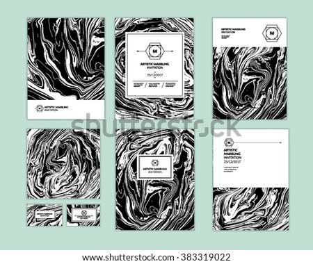 vector set ink texture
