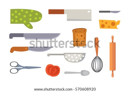 cooking utensils and equipment vectors download free vector art