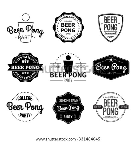 vector set logos and icons beer