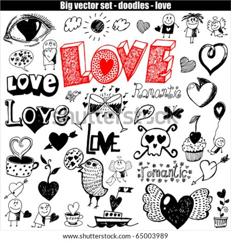 vector set - love