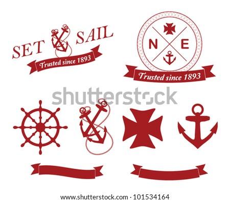 vector set: Nautical Emblems