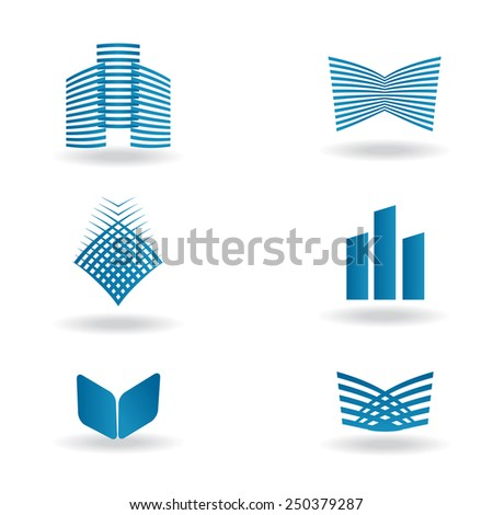 vector set of abstract business