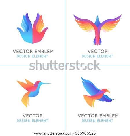 vector set of abstract gradient
