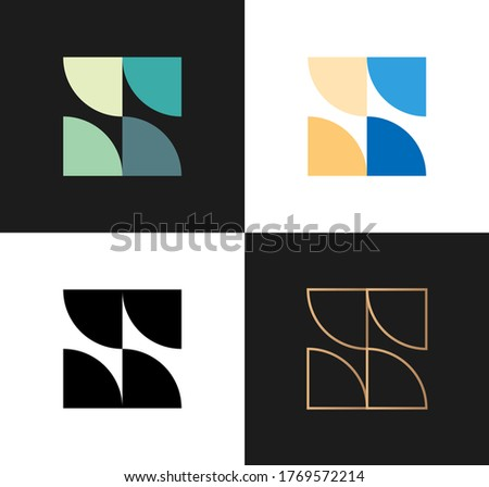 vector set of abstract icons