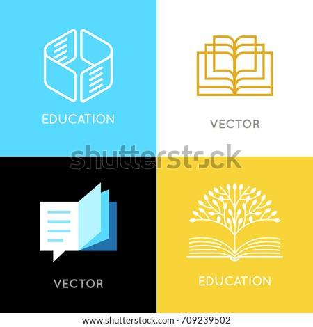 vector set of abstract logo