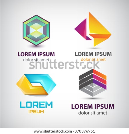 vector set of abstract shapes